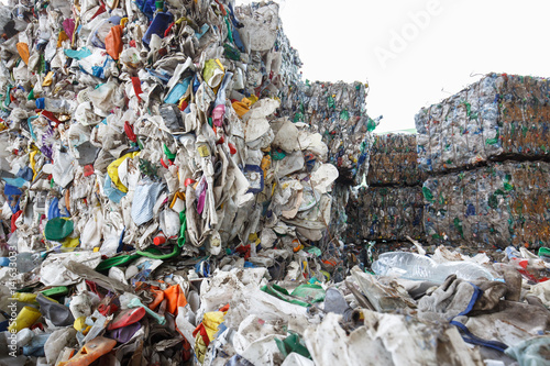 Photo  Pile of sorted plastic waste