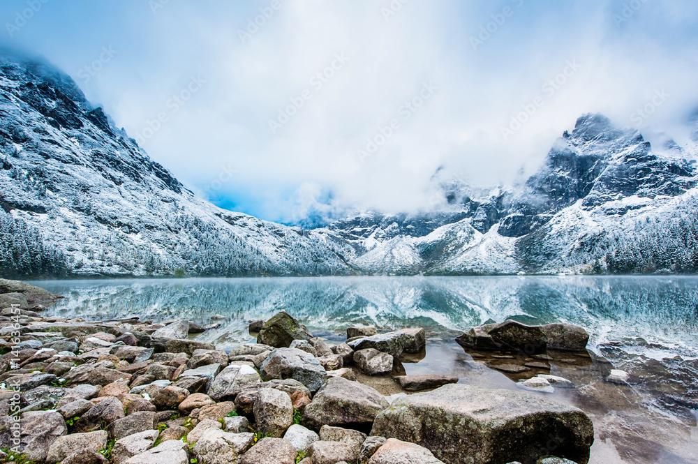 Fototapety, obrazy: Mountain in winter, Morskie Oko