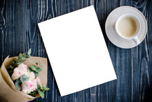 Styled Background With Coffee,...