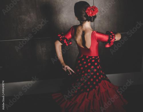 Photographie  Jeune, hispanique, danseur flamenco, danse