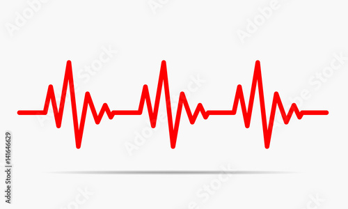 Valokuva  Heartbeat icon - vector illustration.