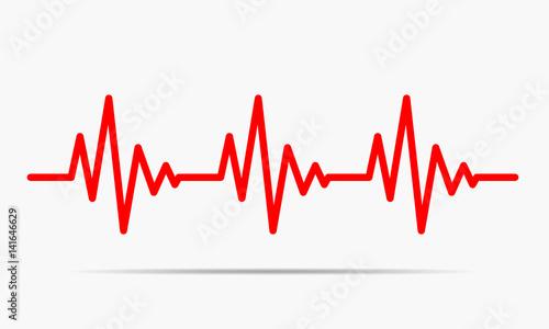 Heartbeat icon - vector illustration. Canvas Print