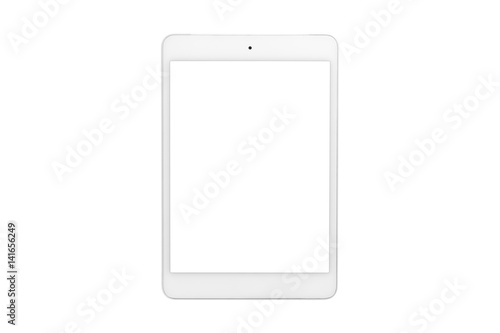 Fotografia  White tablet computer with blank screen on isolated white background