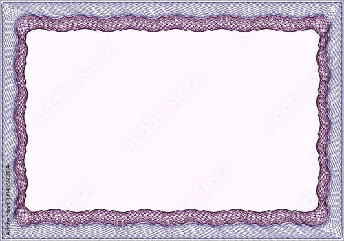 Frame Blank Template For A Certificate Or Diploma Buy This Stock