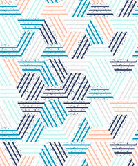 Fototapeta Style Abstract seamless pattern of a plurality of triangles and stripes. Textured background.