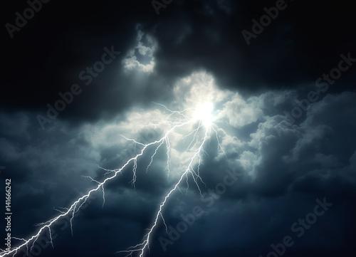 Keuken foto achterwand Onweer Storm