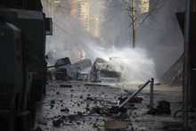 Car In Flames Extinguished By ...