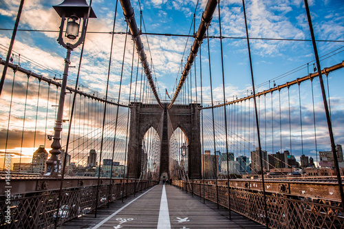 Fotografie, Tablou New York Brooklyn  bridge empty
