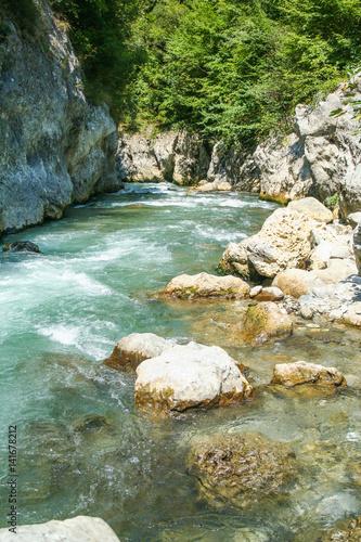 Foto op Plexiglas Japan gorges of river Lao in Calabria