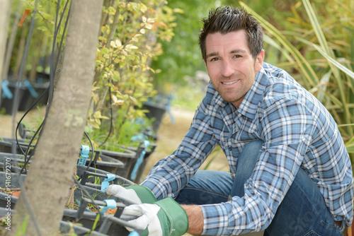 Portrait of horticulturist