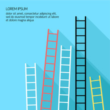 Step Ladder Vector Illustratio...