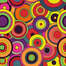 Psychedelic Retro Circles Patt...