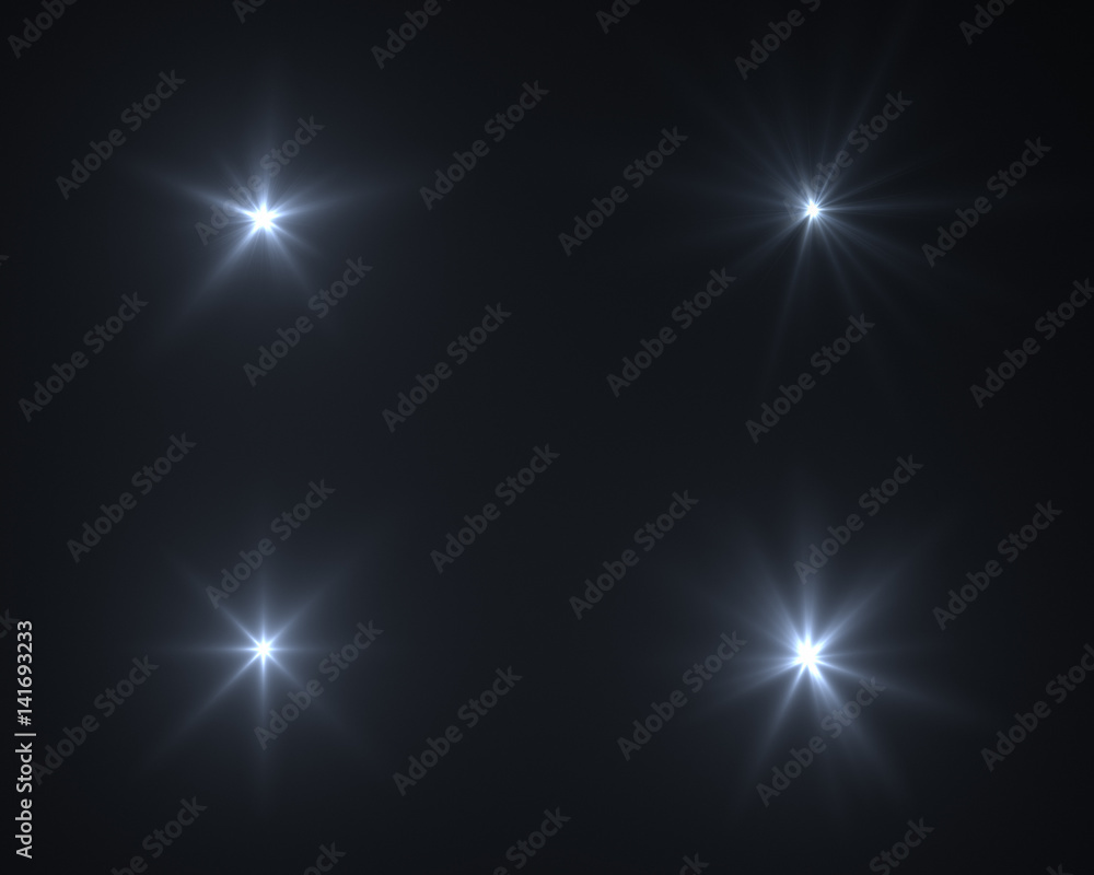 Fototapety, obrazy: Realistic digital lens flare in black background