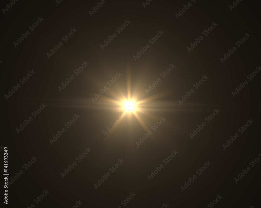 Fototapety, obrazy: Realistic digital lens flare in black background