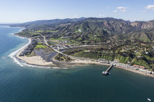 Aerial View Of Malibu Pier And...