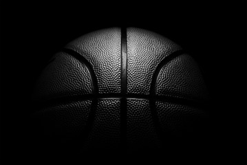 košarka na crnoj pozadini.