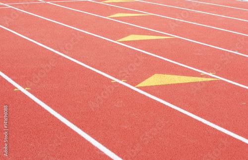 Poster Stadion running track in sport field