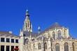 canvas print picture - Altstadt von BREDA ( Niederlande ) mit Grote Kerk