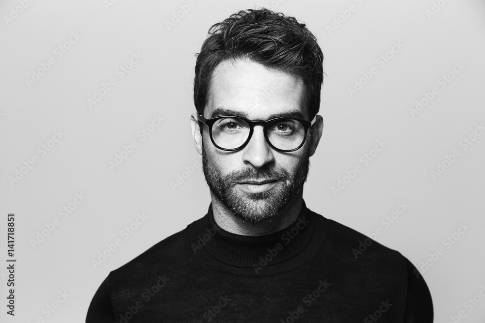 Fototapeta Handsome man in spectacles, portrait