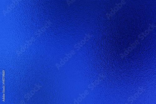 canvas print motiv - interpas : Blue foil texture background