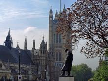 Statue Of Sir Winston Churchill - London, UK