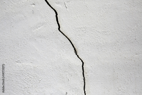 Fotografía  old white wall cracked background
