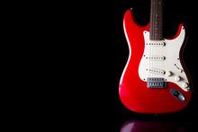 Electric Guitar On Black Backg...