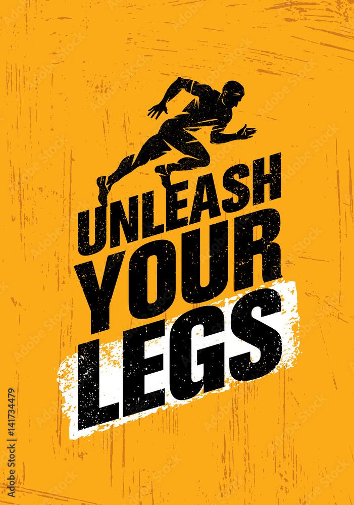 Fotografía Desata tus piernas Motivación inspiradora para correr y ...