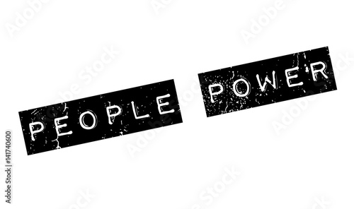People Power rubber stamp Tablou Canvas