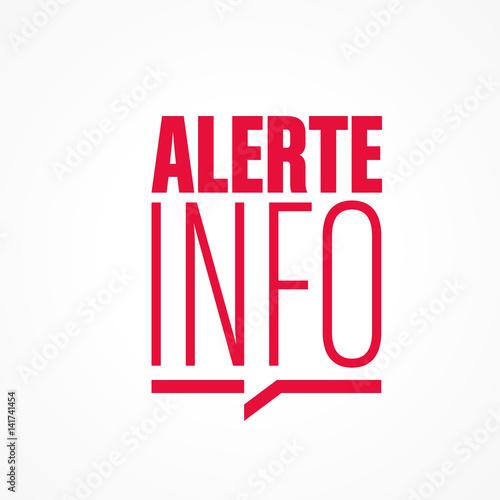 alerte info Wallpaper Mural