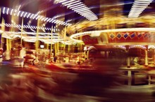 Blur Of Speed On Merry-Go-Round