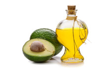 Avocado Oil Isolated On White ...