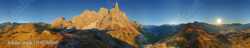 Dolomiti, Pale di San Martino a 360° Wallpaper Mural