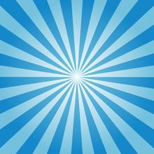 Sunburst Background Blue Color Vector