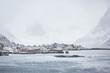 Reine village in winter