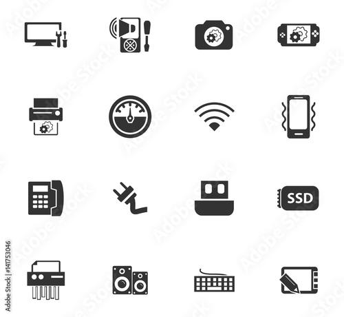 Fototapety, obrazy: Electronics repair icons set