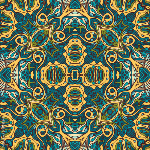 Foto op Plexiglas Retro Colorful doodle abstract seamless pattern.