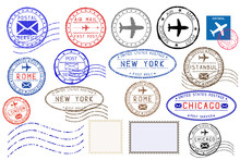 Collection Of Colored Postal S...