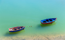 Fishing Boat On The Bank Of A River In Azemmour, Morocco