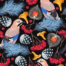 Forest Birds Seamless