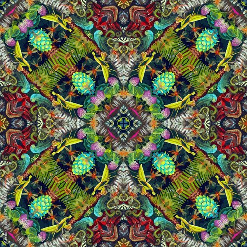 Abstract Psychedelic Surrealism Wallpaper Fantasy Pattern With