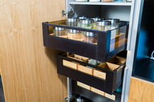 Kitchen Cupboard For Food Stor...