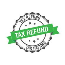 Tax Refund Stamp Illustration