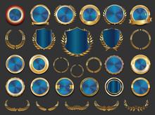 Sale Retro Vintage Golden Badges And Labels