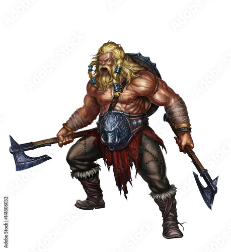 Papel de parede viking berserker on white