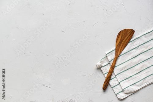 Table Minimal Setting Spatula Napkin Top View