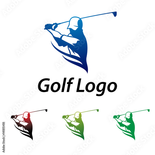 Golf Logo Abstract Swing and Hit the Ball - Buy this stock ...