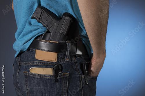 Fotografie, Obraz  Man with everyday carry items (EDC)