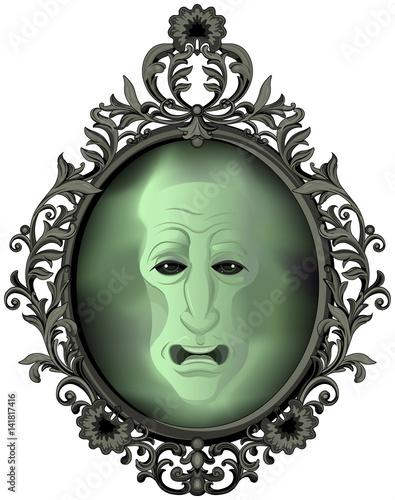 Printed kitchen splashbacks Fairytale World The Magic Mirror