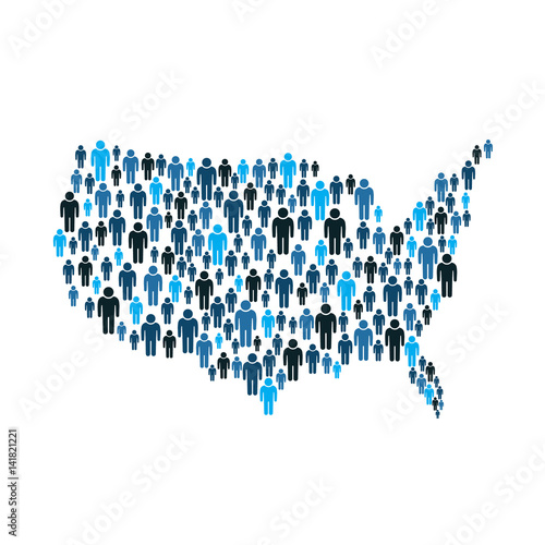 .American People by the Map illustration